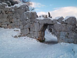 Porta Saracena innevata